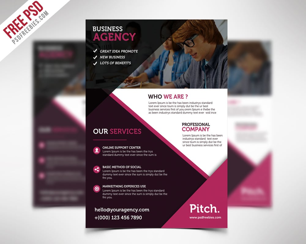 Free flyer templates psd from 2016 css author for Free business flyer templates