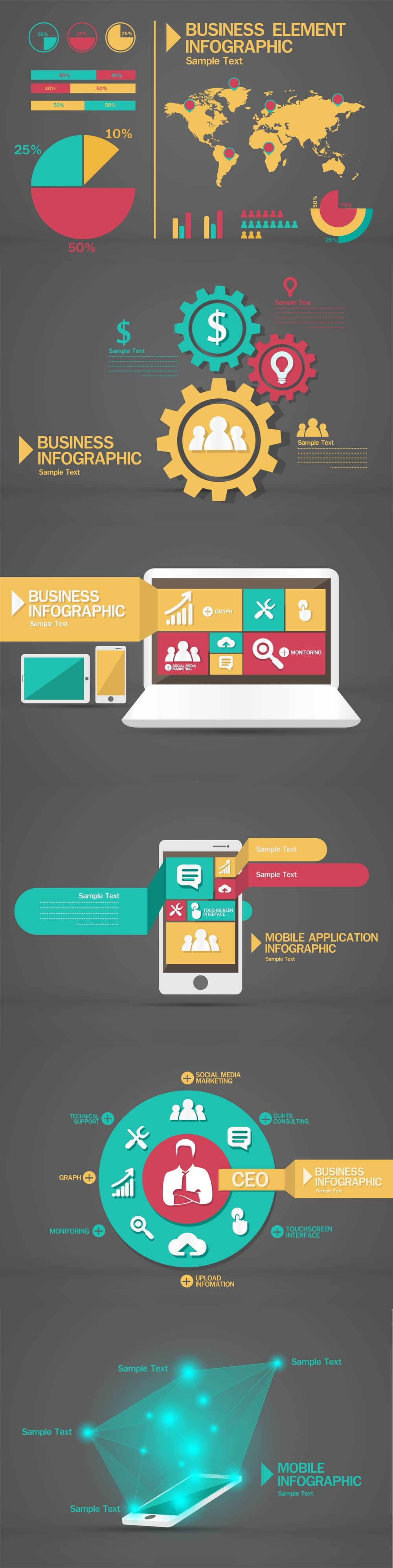 Free-Business-Infographic-Vector-Pack