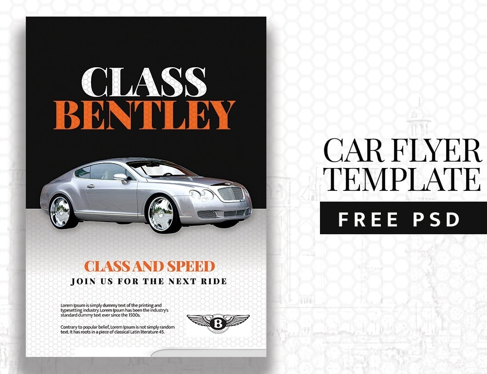 Free Car Flyer Template PSD