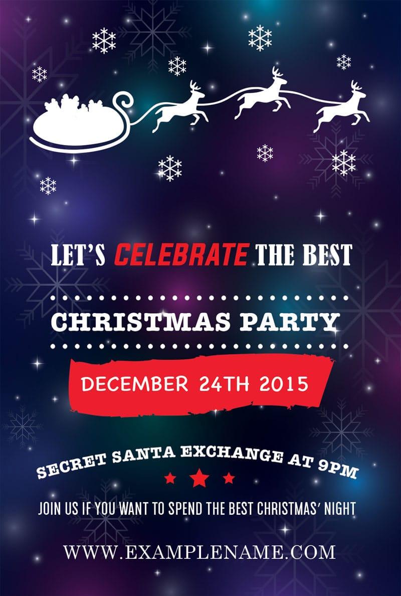 Free Christmas Flyer PSD
