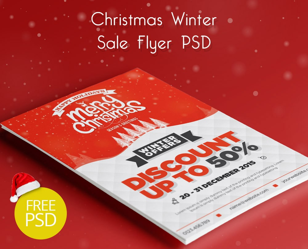 Free Christmas Winter Sale Flyer PSD