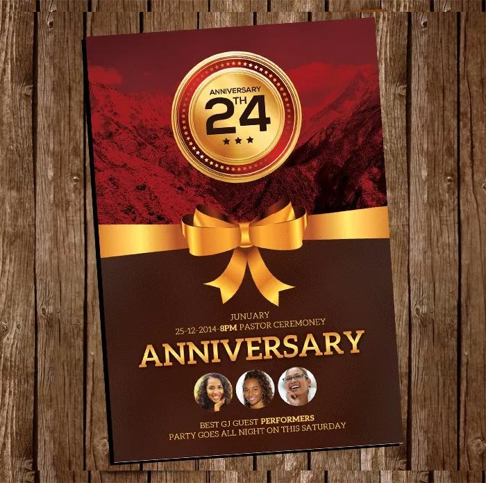 Free Church Anniversary Flyer PSD