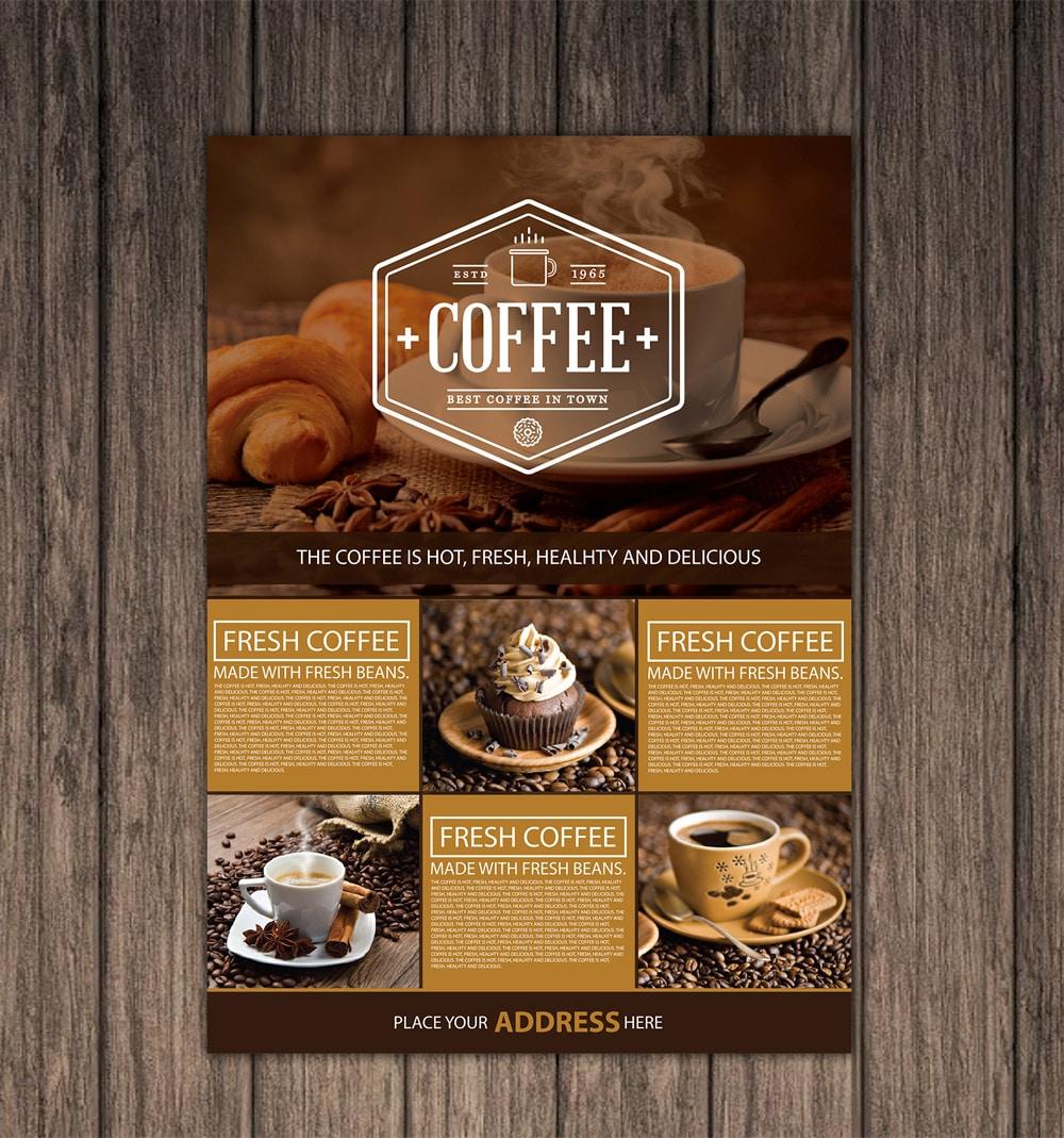 Free Coffee Shop A4 Flyer