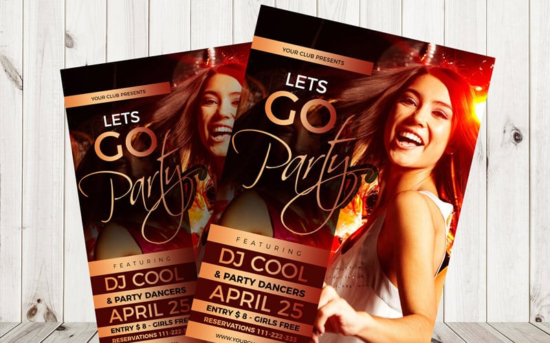 Free Cool Party Flyer Template PSD