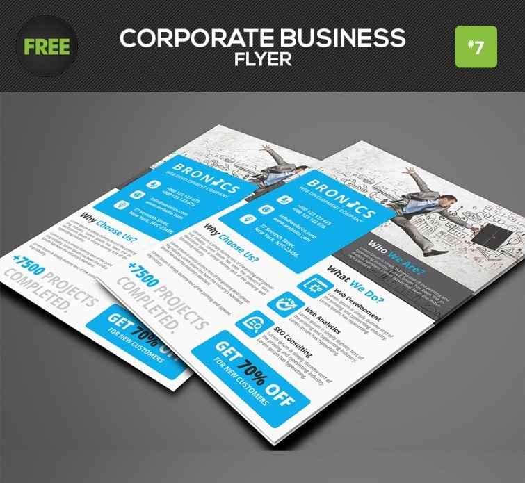 Free Corporate Business Flyer PSD