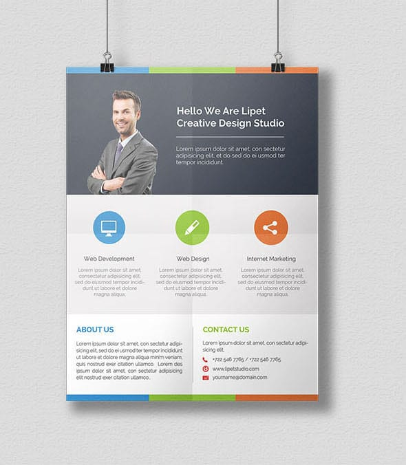 Free Corporate Flyer Template PSD