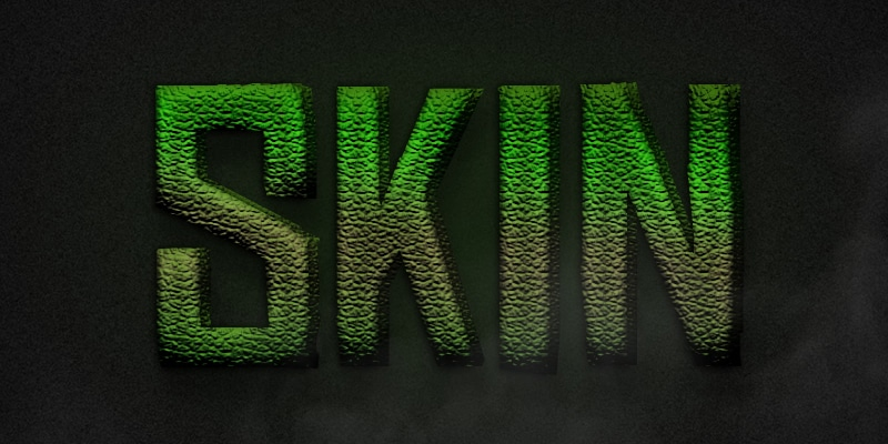 Free Dinosaur Skin Text Effect PSD