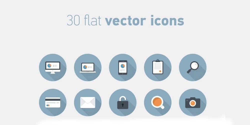 Free Flat Circular Vector Icons