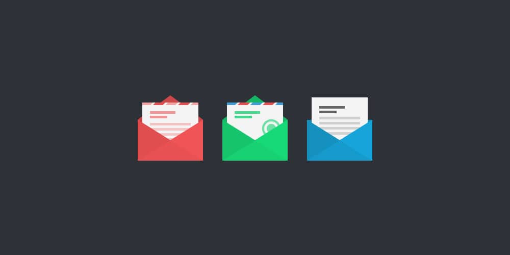 Free Flat Vector Mail Icons