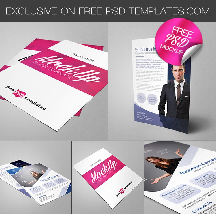 Free Flyer Mock-up PSD