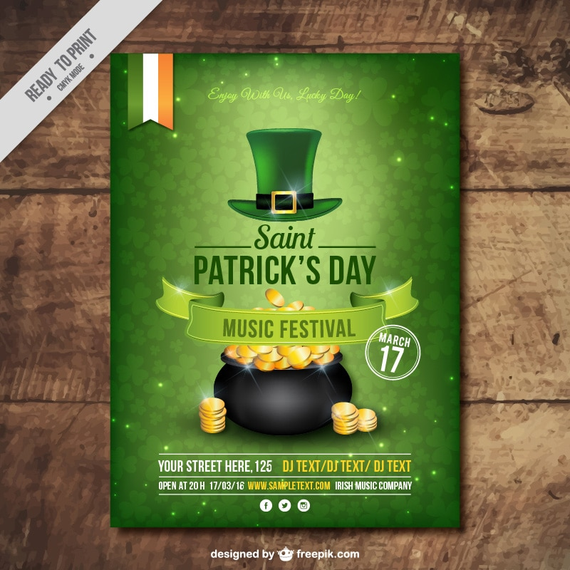 Free Flyer & Poster Templates for St. Patrick's Day