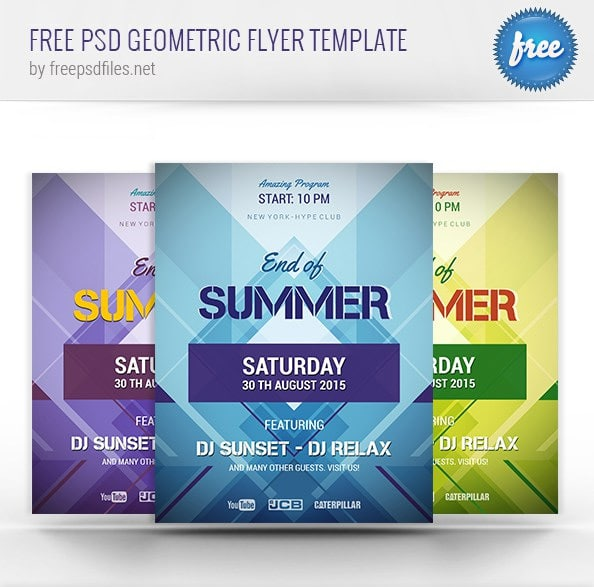 Free Geometric Flyer Template PSD