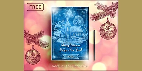 Free Handmade Retro Christmas Flyer PSD