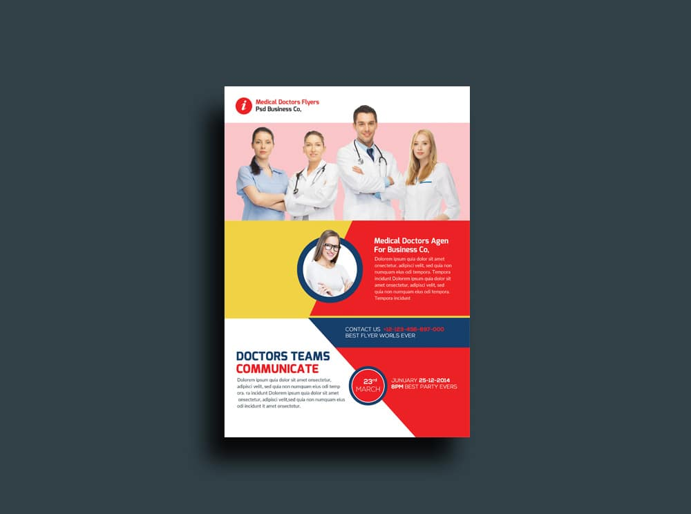 Free Health and Medical Doctors Flyer PSD