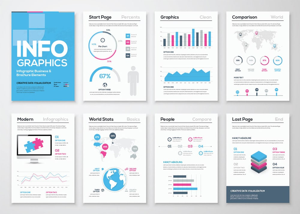 25 best free infographic elements css author for Graphic design brochure templates