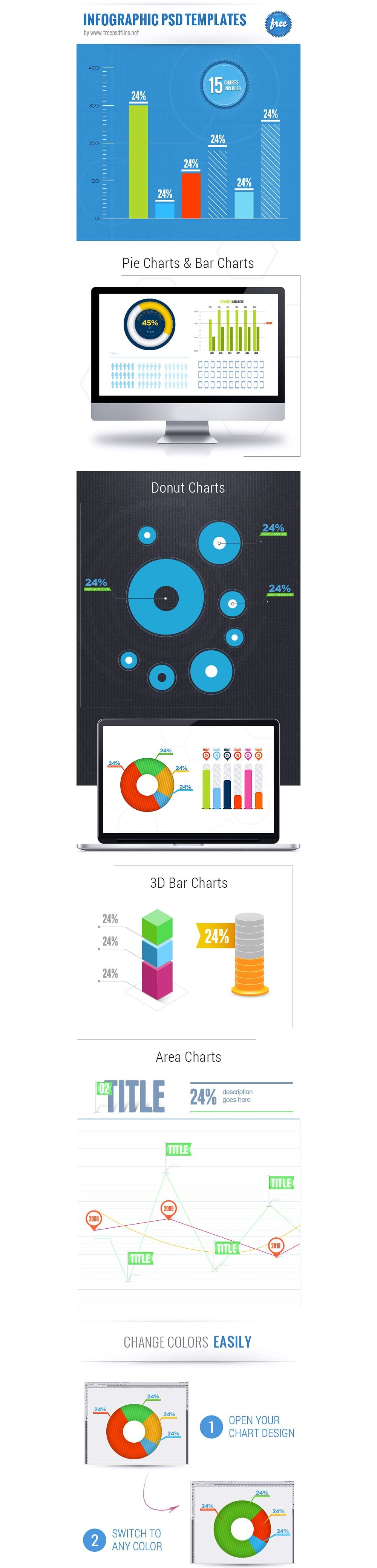 Free Infographic Templates PSD