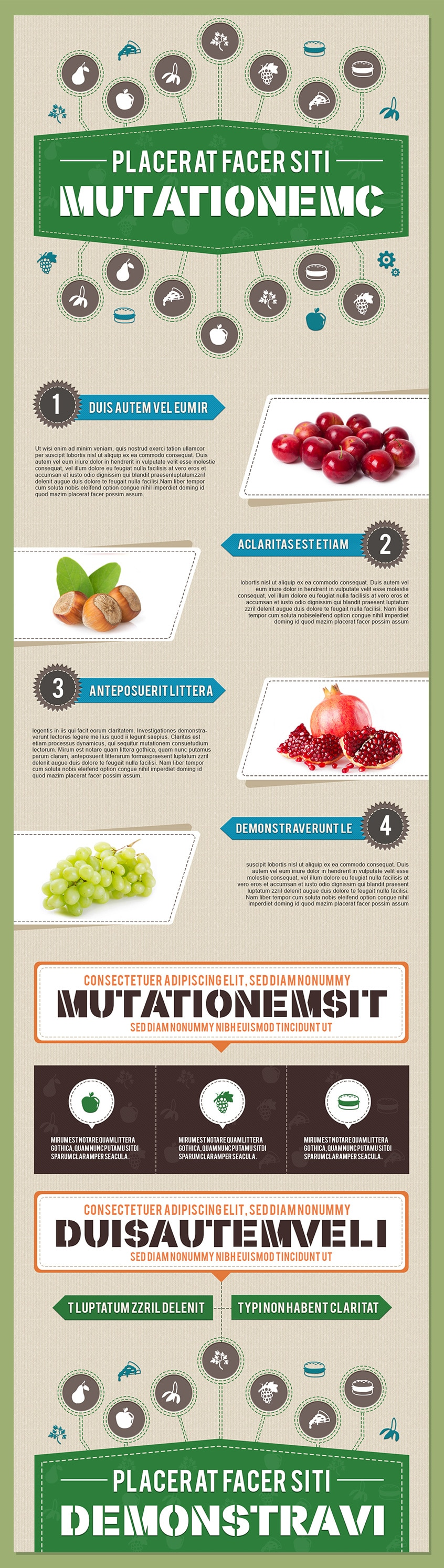 Free Infographics PSD Template in Food and Nutrition