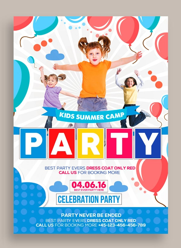 Free flyer templates psd from 2016 css author for Free brochure templates for kids