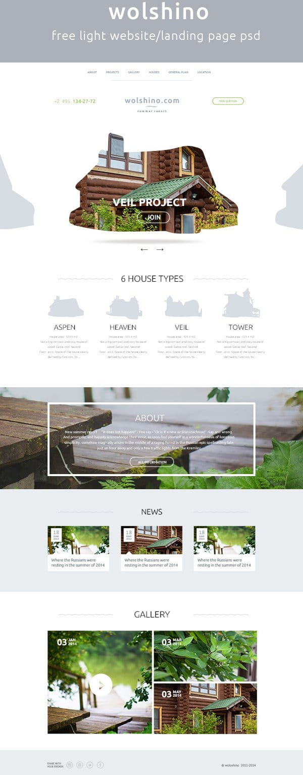 Latest free web elements from january 2015 for Free landing page templates for wordpress