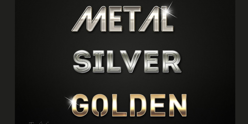 Free Metallic Photoshop Layer Styles
