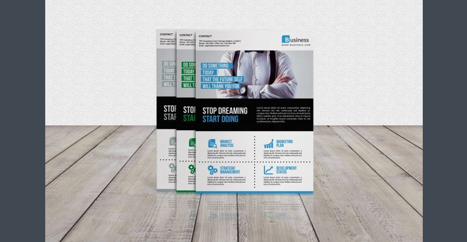 Free Modern Corporate Flyer Template PSD