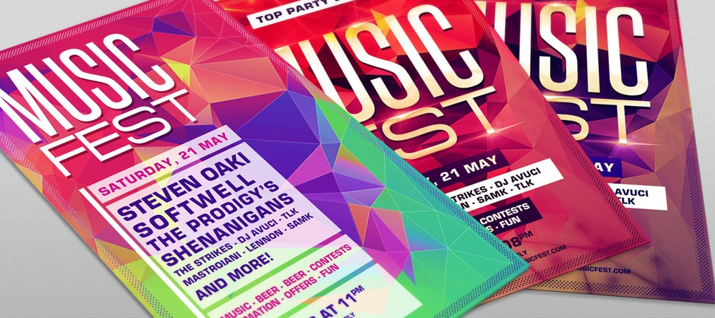 Free Music Festival Party Flyer Template PSD