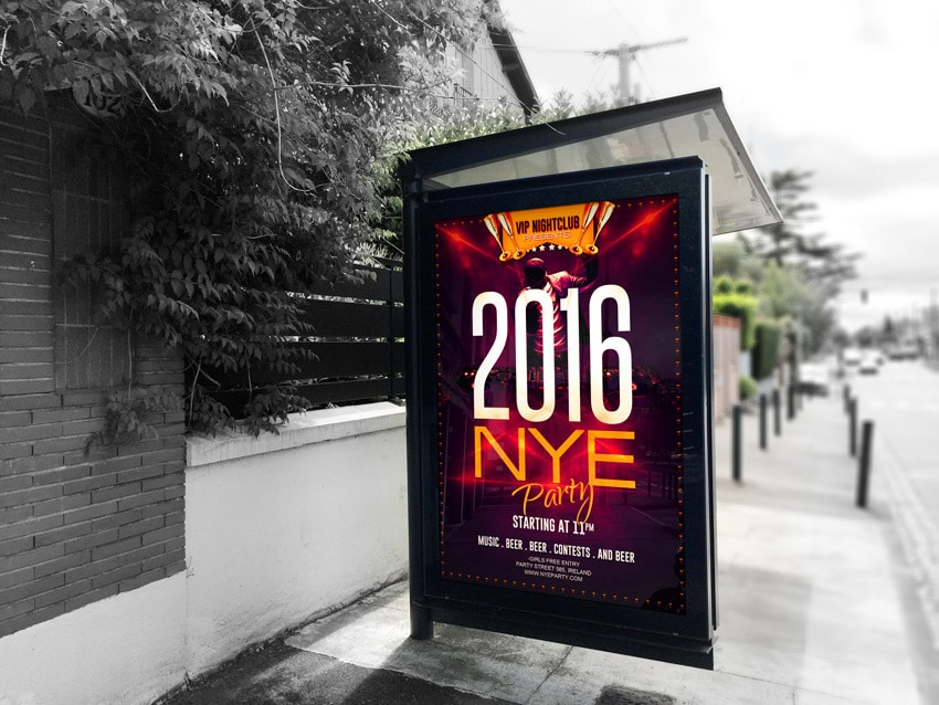 Free New Year Eve Party Flyer PSD