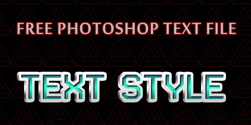 Free Photoshop Text PSD
