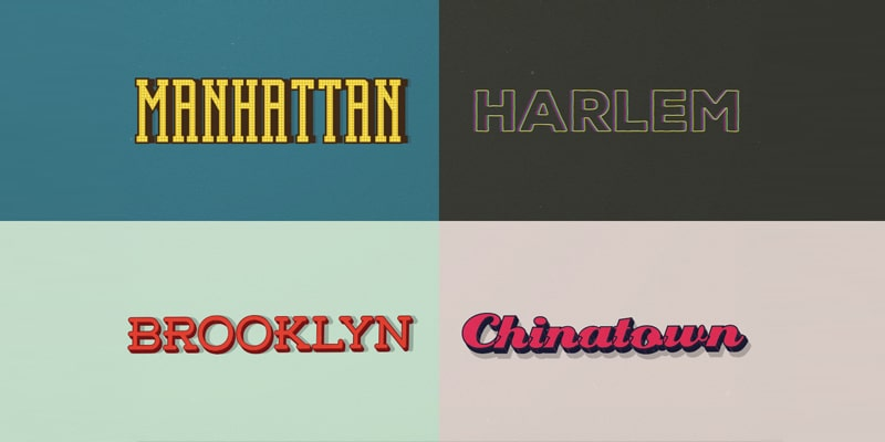 Free Retro Adobe Illustrator Text Styles