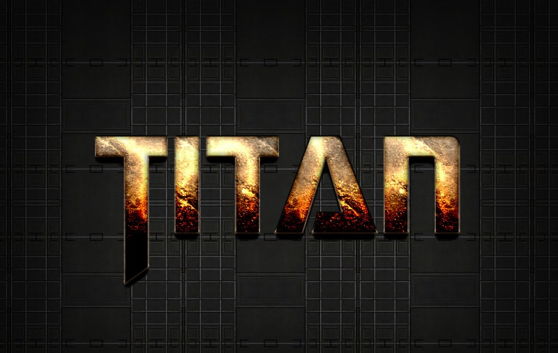 Free SCI - FI Photoshop Text Effect Titan