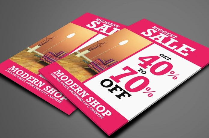 Free Sale Flyer Template PSD