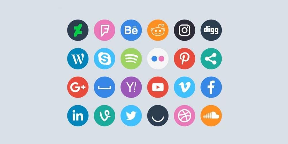 Free Social Circle Icons