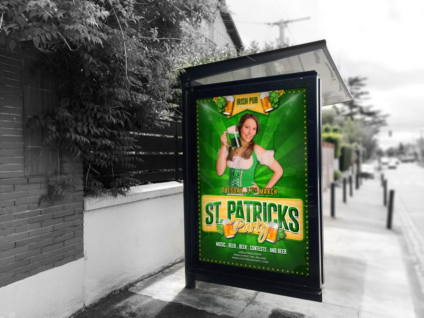 Free St. Patricks Party Flyer PSD