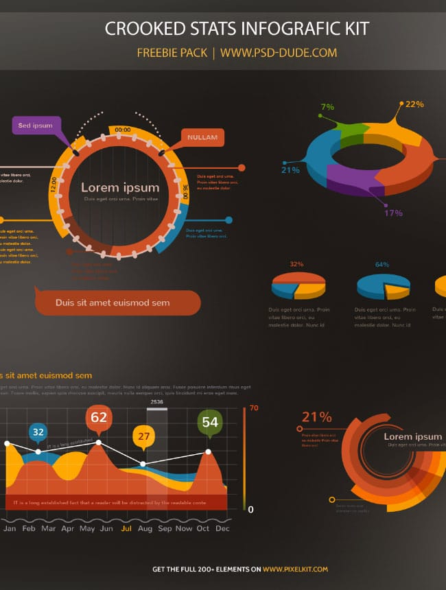 Free Stats Infographic PSD
