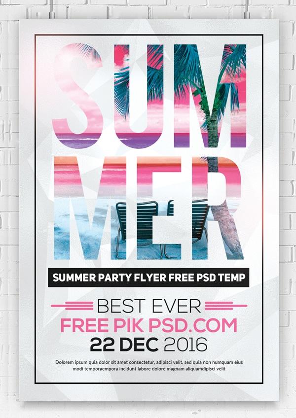 Free Summer Flyer Template PSD