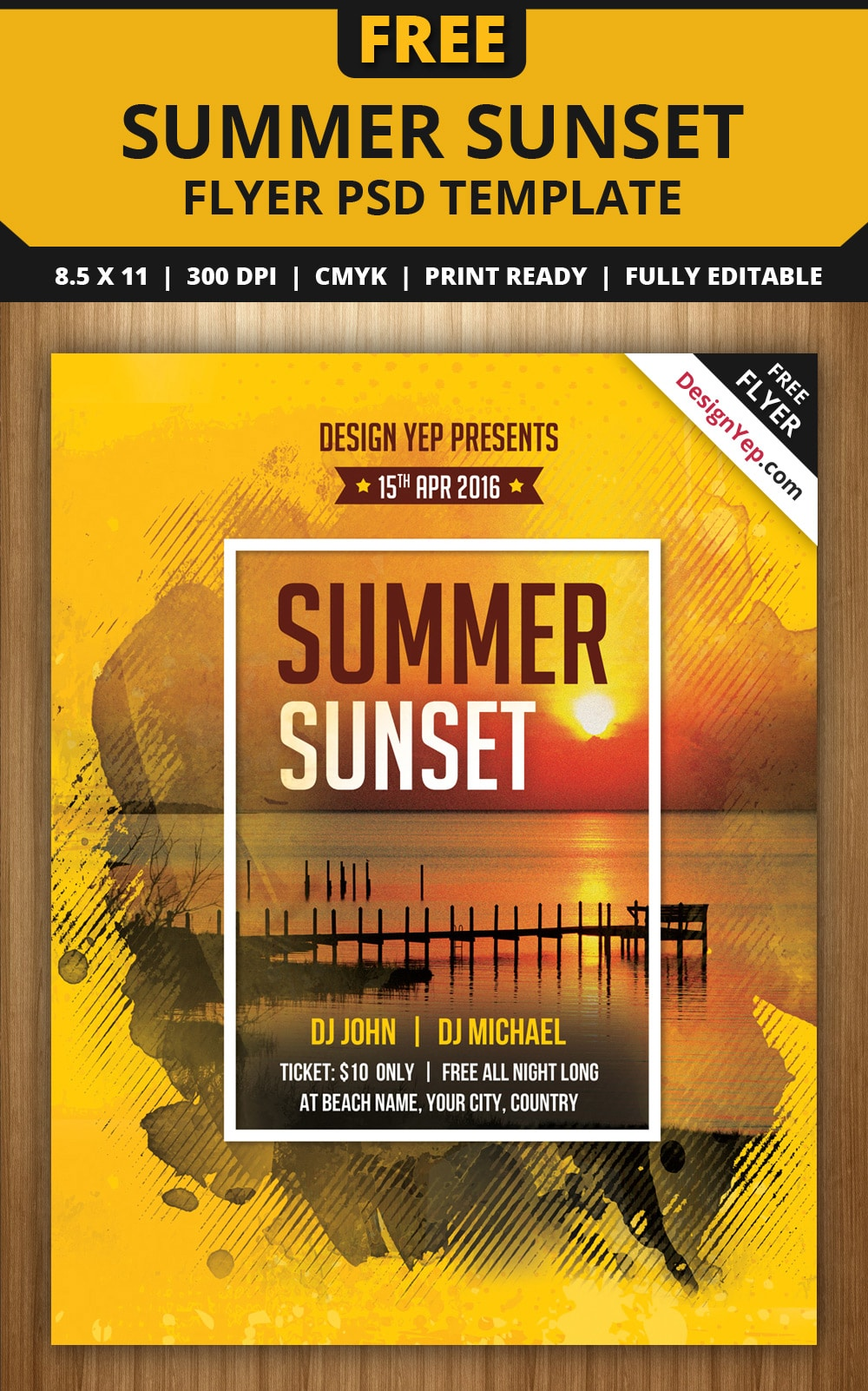 Free flyer templates psd from 2016 css author for Free psd flyer templates