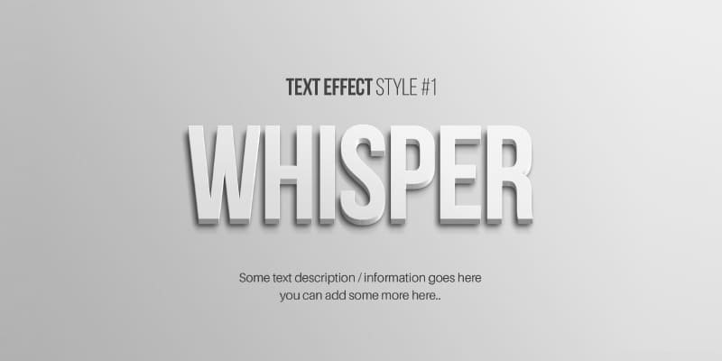 Free Text Effects PSD