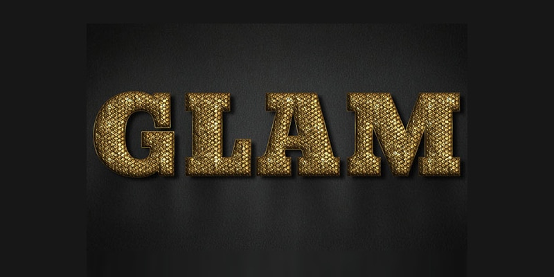 Glam Gold Text Effect PSD