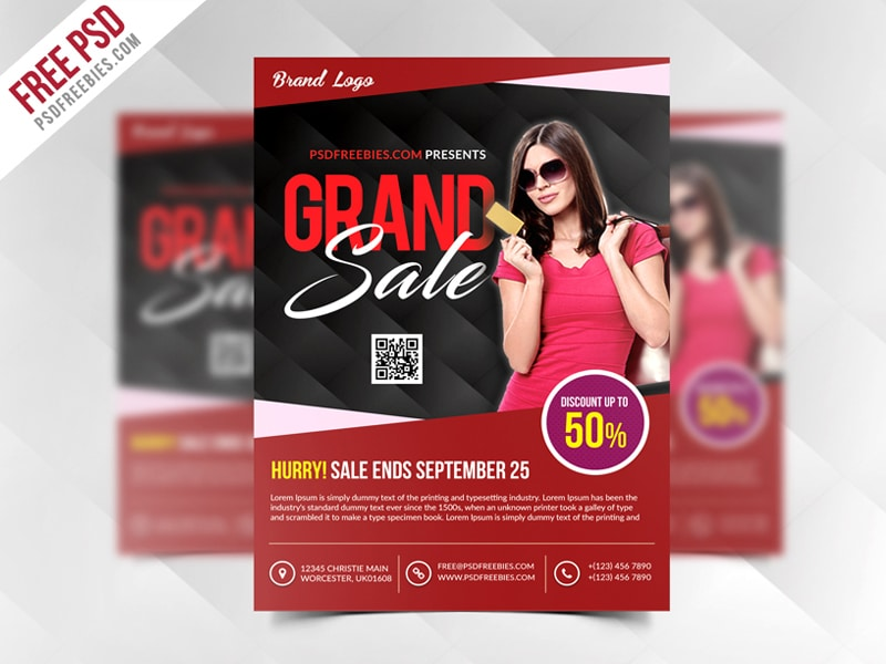 Grand Sale Flyer Template PSD