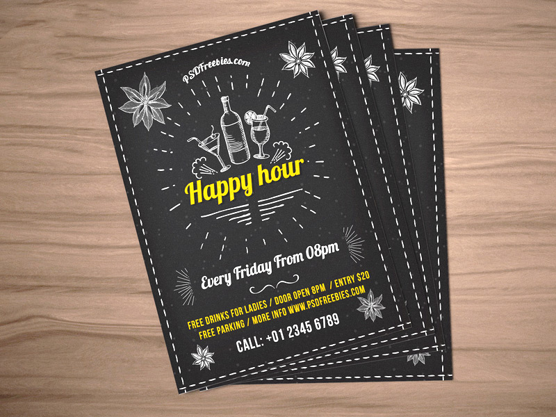 Happy-Hour-Party-Invitation-Flyer-Template-PSD