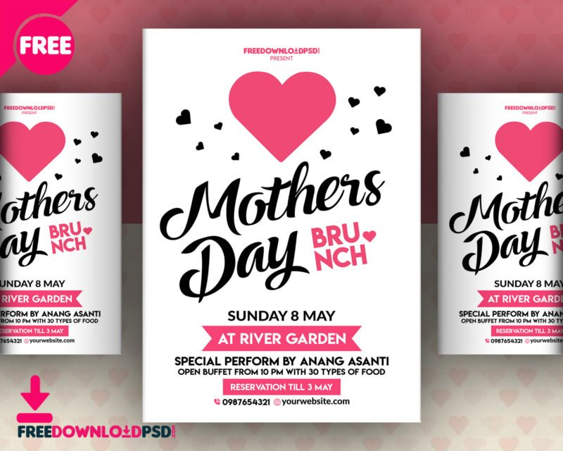 Happy Mothers Day Flyer PSD