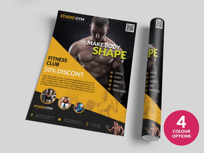 Health and Fitness Flyer Templates PSD
