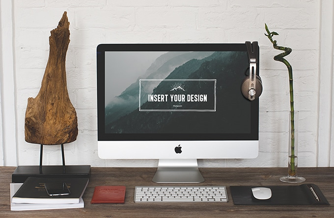 Free Hip Desktop Mock-ups PSD