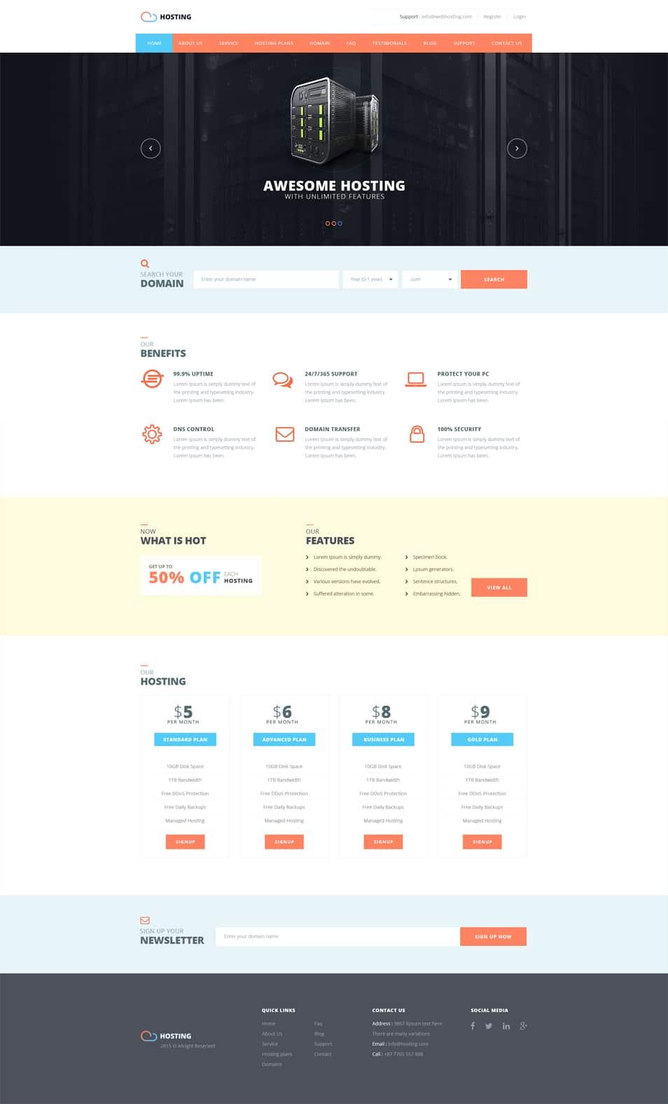 Free hosting web template psd designs css author for Css author
