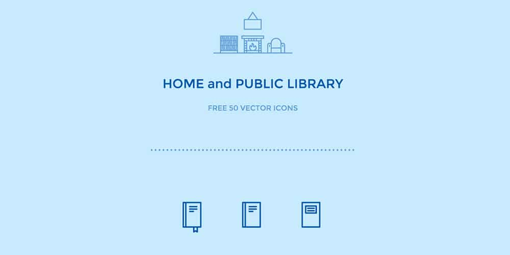Home and Library Free Icons