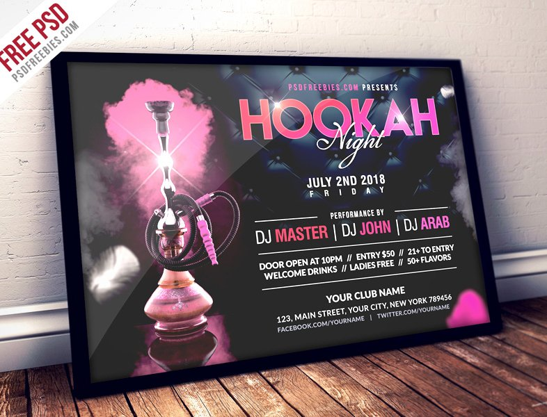 Hookah Night Party Flyer Template
