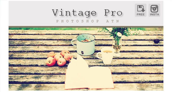 Instagram Vintage Pro - Photoshop Action