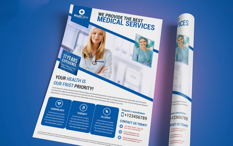 Medical Services Flyer Template PSD