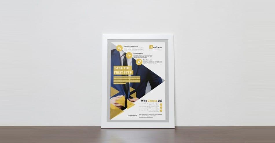 Minimal Corporate Flyer Template PSD