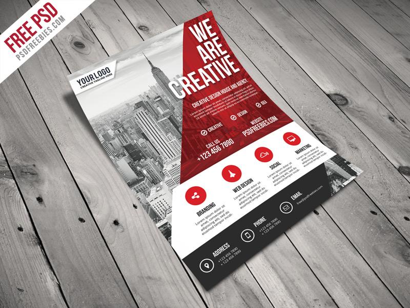Modern Business Agency Flyer PSD